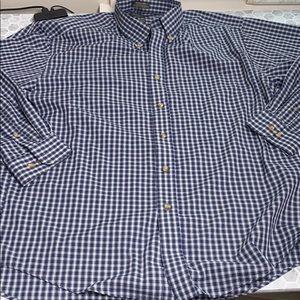 Van Heusen Large 16-16.5 Plaid Button Up